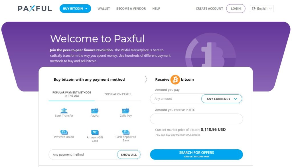 Paxful buy Bitcoin