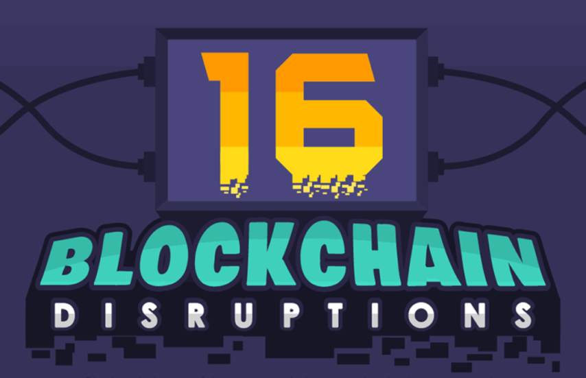 16-Blockchain-Disruptions-Infographic