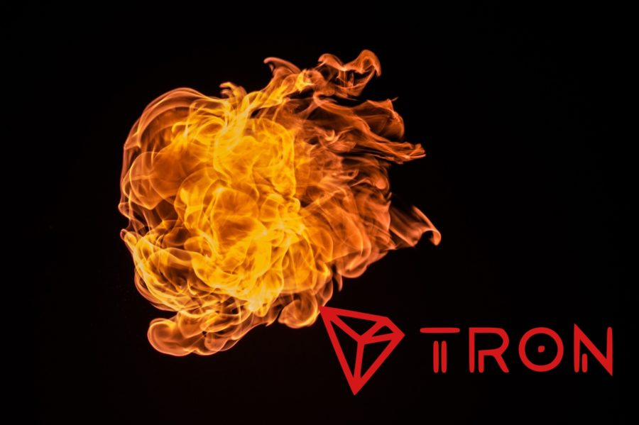 tron cryptocurrency coin burn