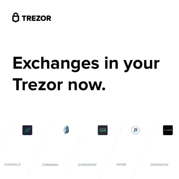 Trezor Allows Cryptos Swapping