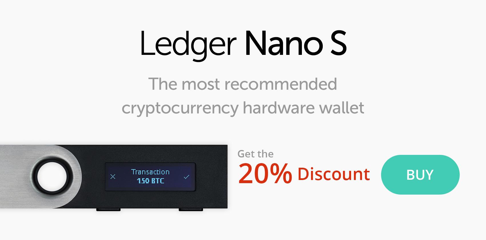 ledger nano s cryptocurrency hardware wallet uk