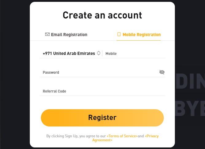registration bybit