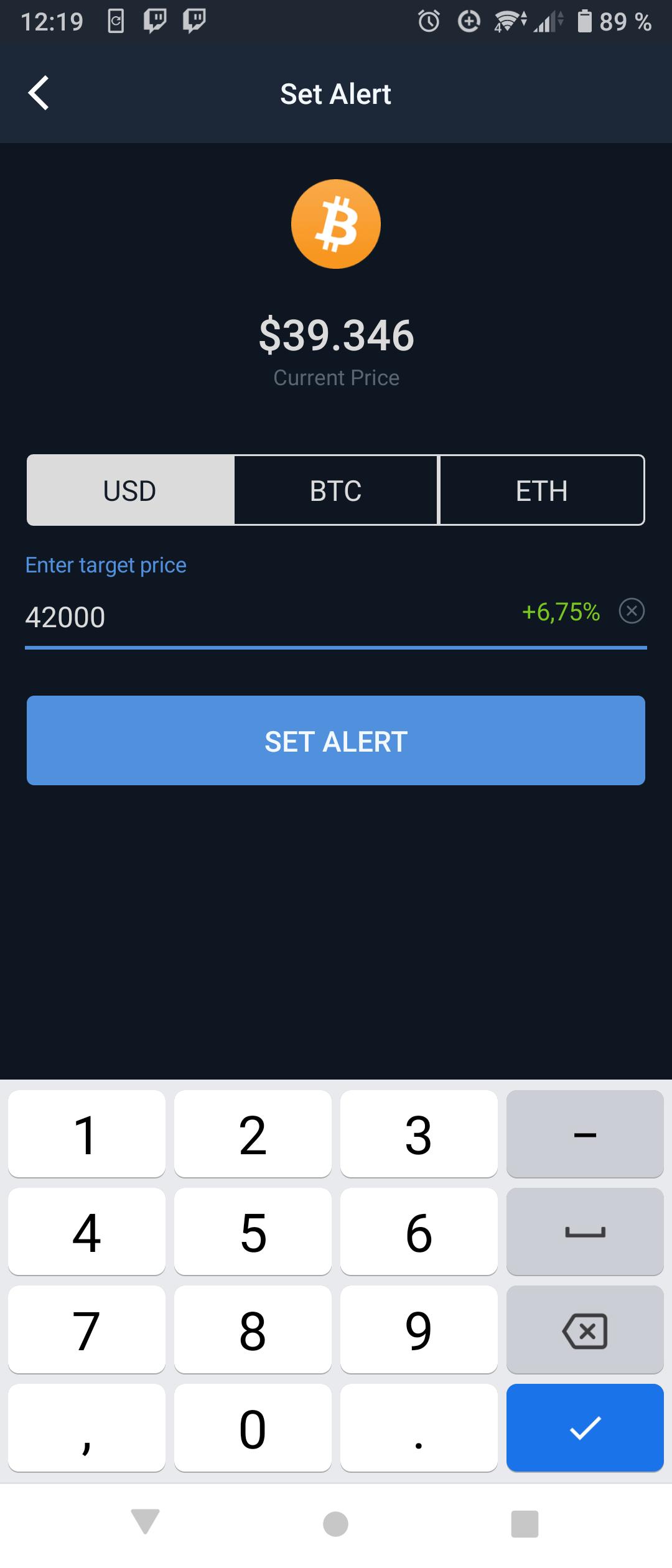 coincodex set alert