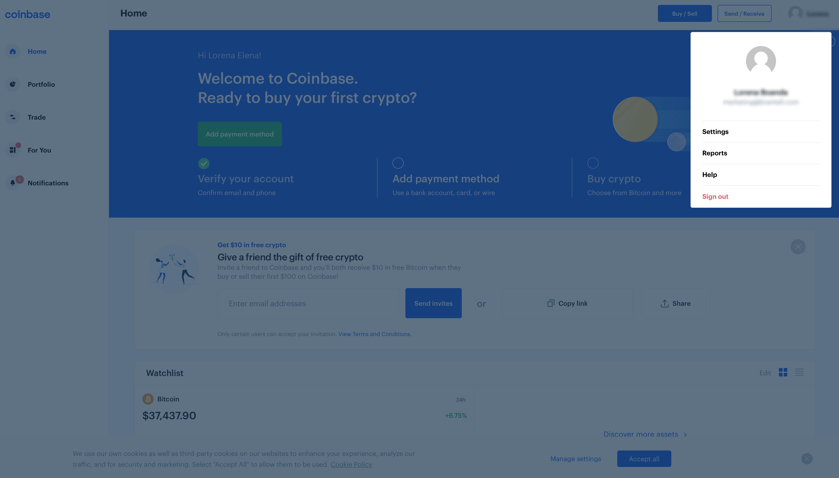 Coinbase Payment Method